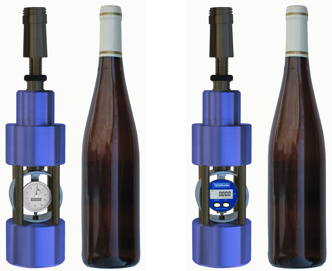 Wine Bottle Head Load Tester TWP 2 (left) and TWP 5 (right)